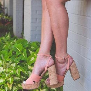 Aldo Ankle Strap Platform High Heels Sandals